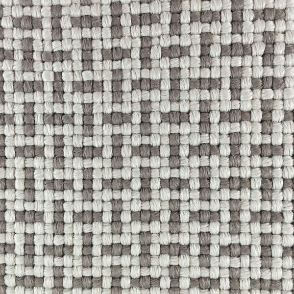 Outdoor two colour woven hatch design by Concept | Hand Tufting