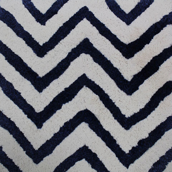 Outdoor tufted one level cut pile herringbone design by Concept | Hand Tufting