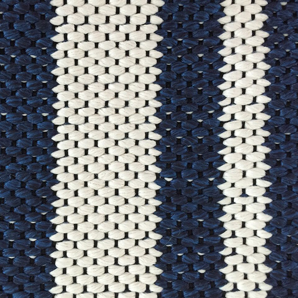 Outdoor two colour random width stripe design by Concept | Hand Tufting