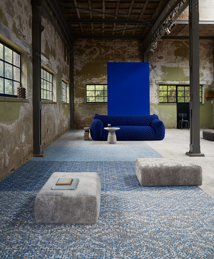 Desso &Ex carpet in blue