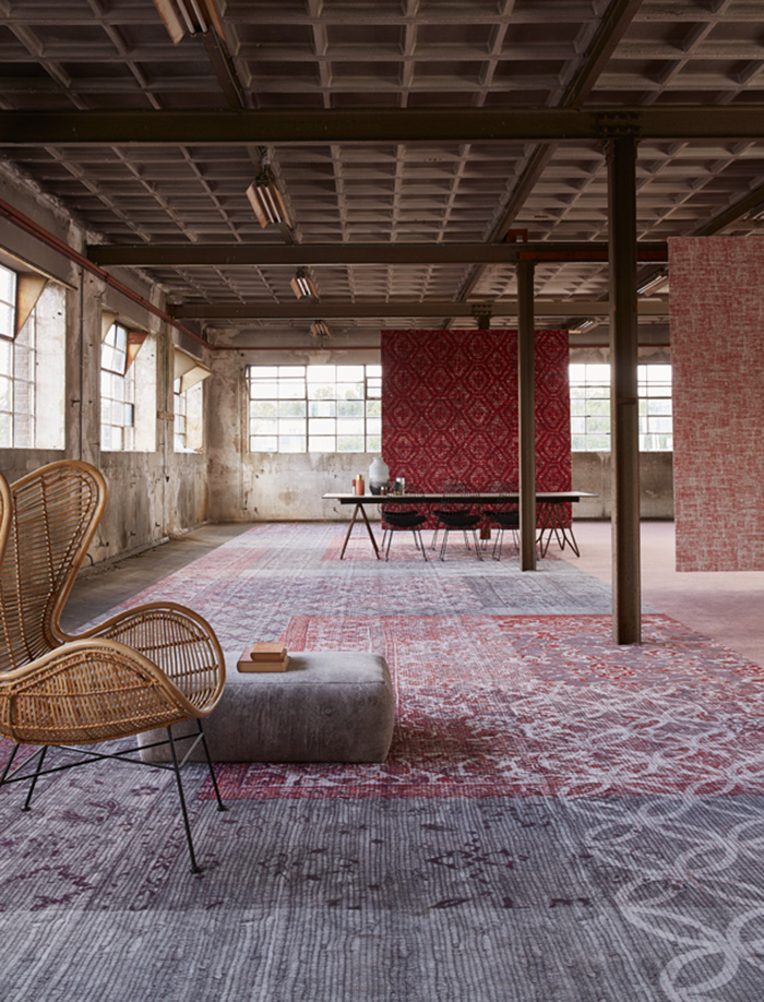 Desso &Ex carpet in red